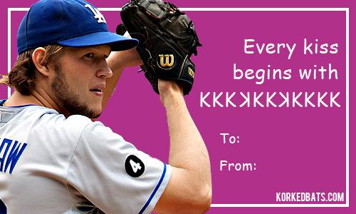 Sports Valentines Day Cards Korked Bats – Sports Valentines Day Cards