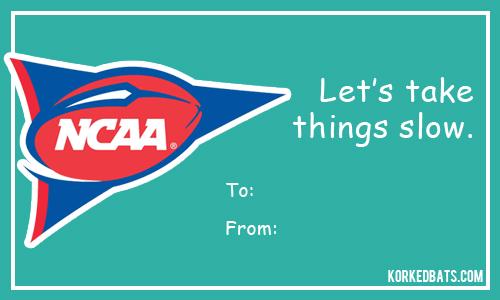 sports valentines cards ncaa football