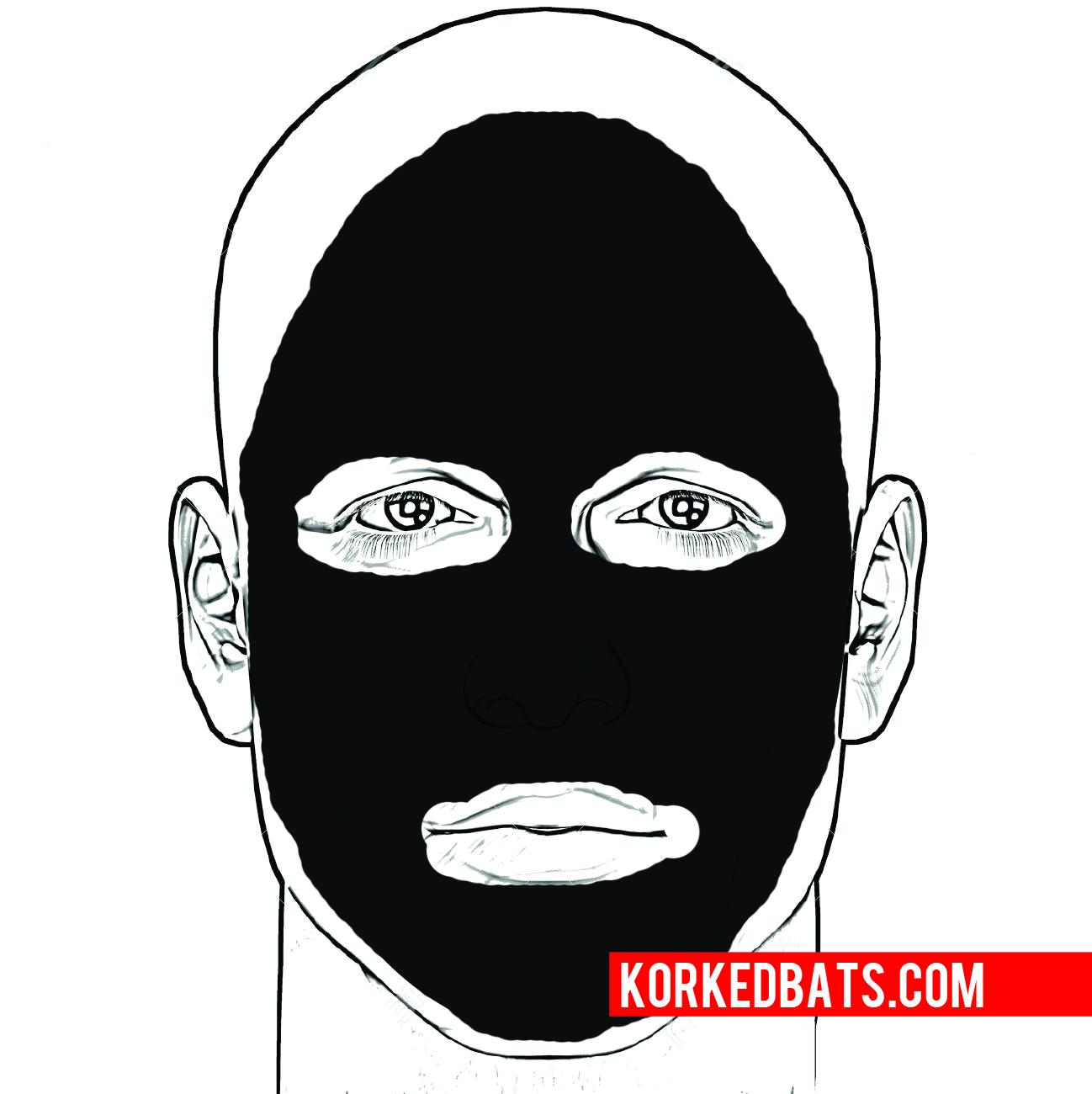 Intimidating eye black designs
