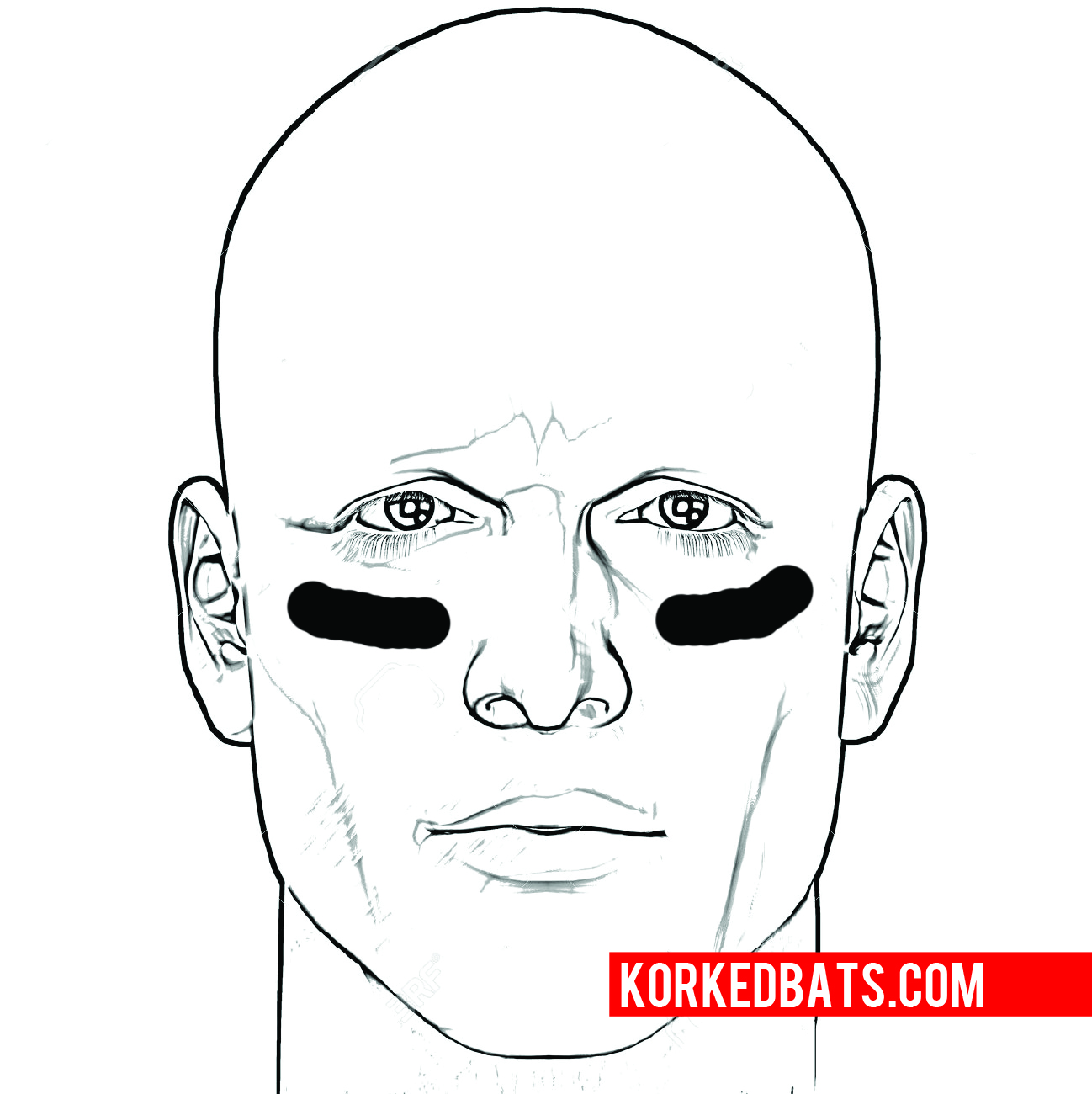 Intimidating eye black designs for baseball
