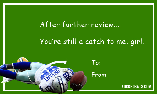 sports valentines cards dez bryant