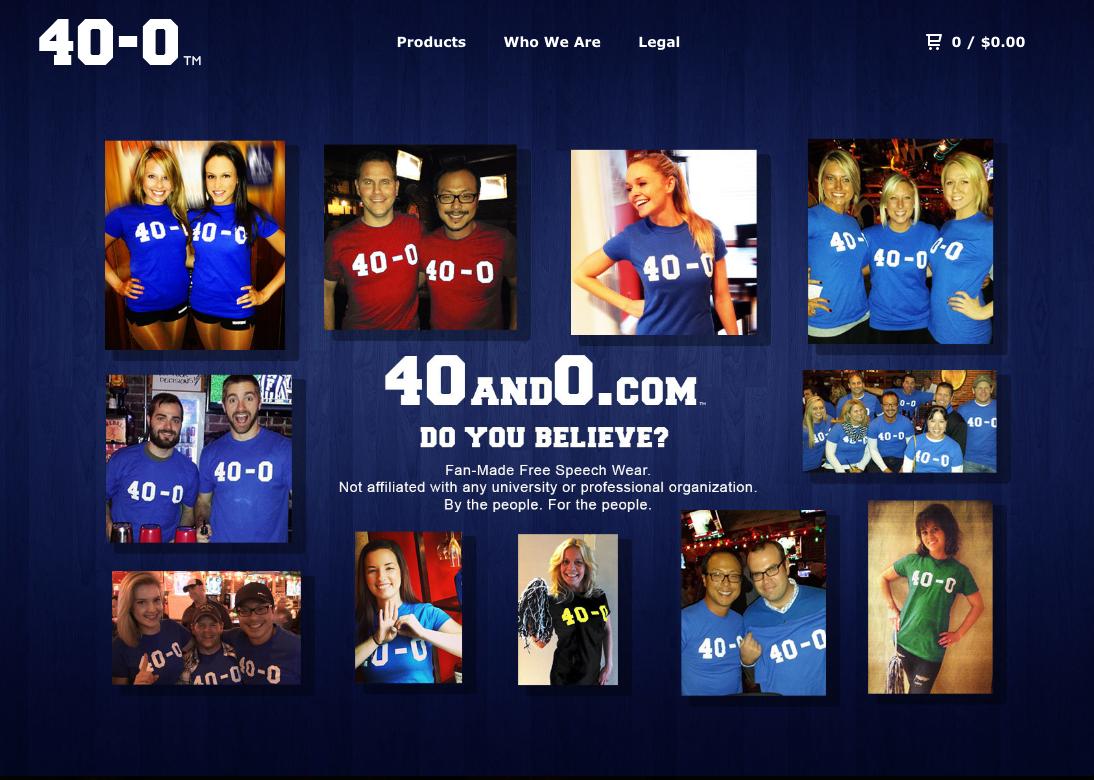 Kentucky 40-0 T-Shirts