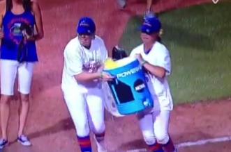Florida Gators Softball Cooler Dump Fail